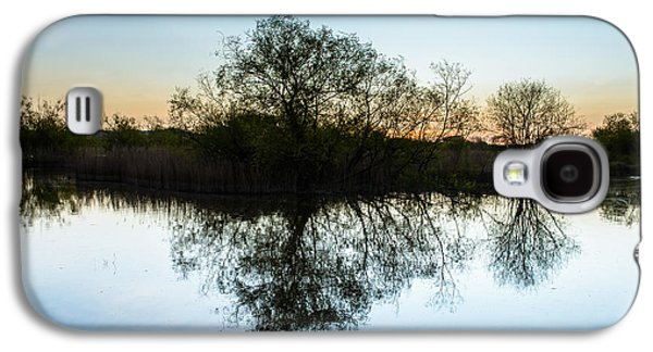 Trees Reflecting In Water Galaxy S4 Cases - Late Evening Reflections I Galaxy S4 Case by Marco Oliveira