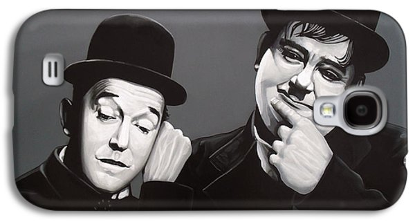Boxes Galaxy S4 Cases - Laurel and Hardy Galaxy S4 Case by Paul  Meijering