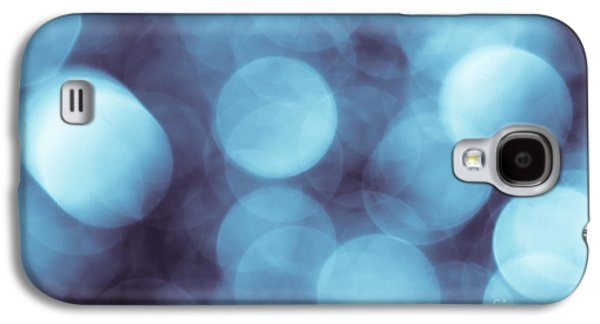 Contemporary Art Photographs Galaxy S4 Cases - Lavender Blue Bokeh Galaxy S4 Case by Jan Bickerton