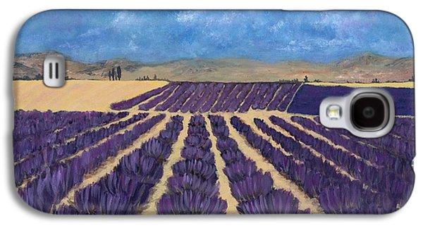 Floral Digital Galaxy S4 Cases - Lavender Field Galaxy S4 Case by Anastasiya Malakhova