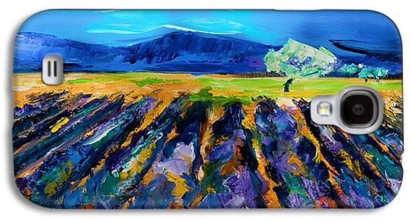 Lavender Field Galaxy S4 Case by Elise Palmigiani