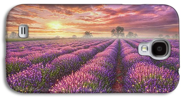 Lavender Field Galaxy S4 Case by Phil Jaeger