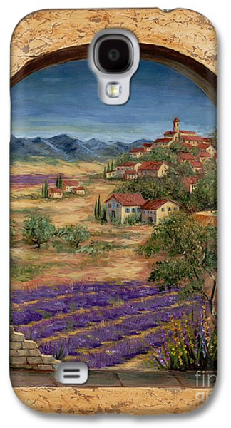 Lavender Fields And Village Of Provence Galaxy S4 Case by Marilyn Dunlap