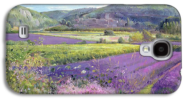 Purple Paintings Galaxy S4 Cases - Lavender Fields in Old Provence Galaxy S4 Case by Timothy Easton