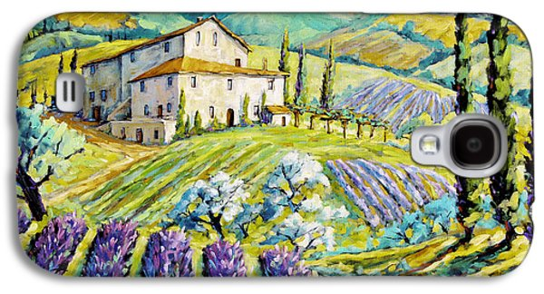 Canadiens Paintings Galaxy S4 Cases - Lavender Hills Tuscany by Prankearts Fine Arts Galaxy S4 Case by Richard T Pranke