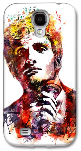 """""""square """" Mixed Media Galaxy S4 Cases - Layne Staley watercolor Galaxy S4 Case by Marian Voicu"""