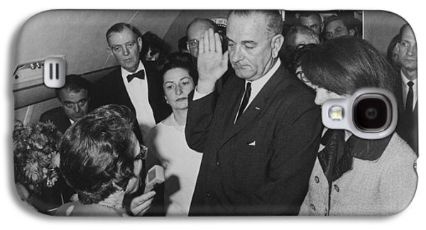 First Lady Galaxy S4 Cases - LBJ Taking The Oath On Air Force One Galaxy S4 Case by War Is Hell Store