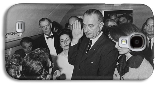 Lbj Taking The Oath On Air Force One Galaxy S4 Case by War Is Hell Store