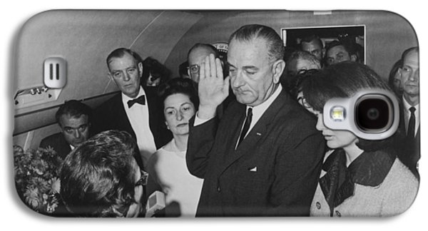 First-lady Galaxy S4 Cases - LBJ Taking The Oath On Air Force One Galaxy S4 Case by War Is Hell Store