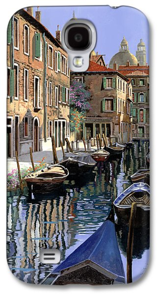 Picture Paintings Galaxy S4 Cases - Le Barche Sul Canale Galaxy S4 Case by Guido Borelli