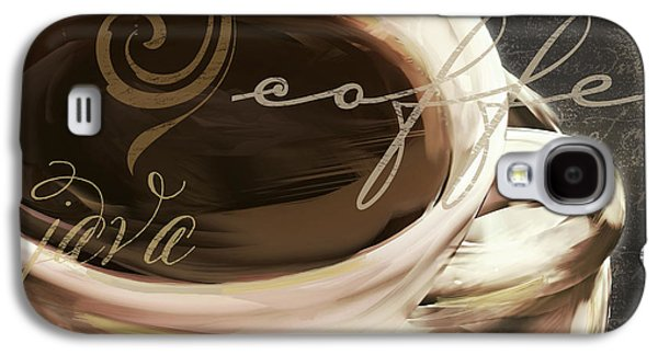Coffee Drinking Galaxy S4 Cases - Le Cafe Dark Galaxy S4 Case by Mindy Sommers