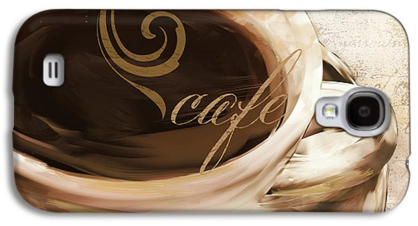 Coffee Drinking Galaxy S4 Cases - Le Cafe Light Galaxy S4 Case by Mindy Sommers