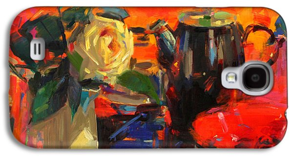Tasteful Art Galaxy S4 Cases - Le Cafe Galaxy S4 Case by Peter Graham