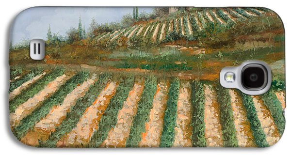 Grape Vineyard Galaxy S4 Cases - Le Case Nella Vigna Galaxy S4 Case by Guido Borelli