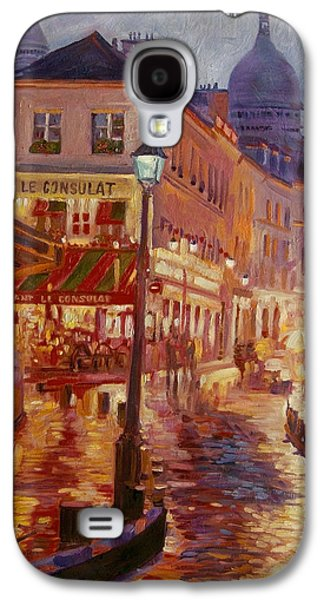 Street Paintings Galaxy S4 Cases - Le Consulate Montmartre Galaxy S4 Case by David Lloyd Glover