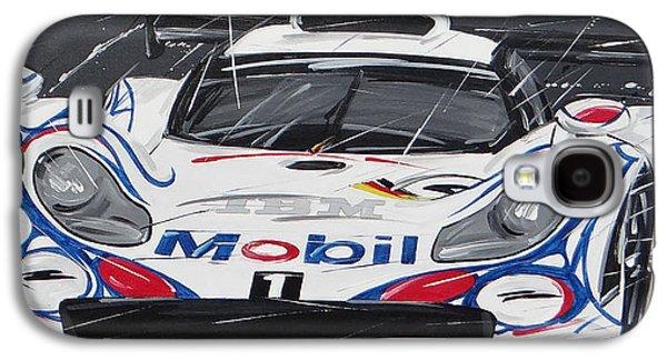 Le Mans Porsche 911 Gt 1995 Galaxy S4 Case by Roberto Muccilo