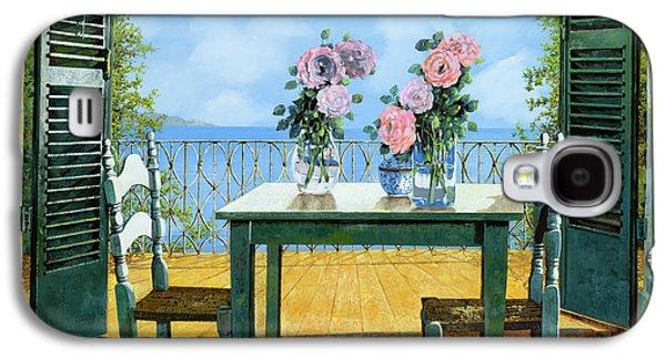 Table Galaxy S4 Cases - Le Rose E Il Balcone Galaxy S4 Case by Guido Borelli