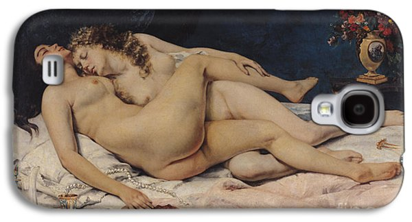 Bed Galaxy S4 Cases - Le Sommeil Galaxy S4 Case by Gustave Courbet