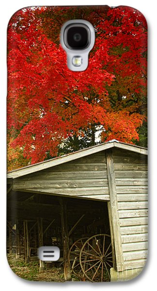 Change Paintings Galaxy S4 Cases - Leaf Peeping Galaxy S4 Case by Mindy Sommers