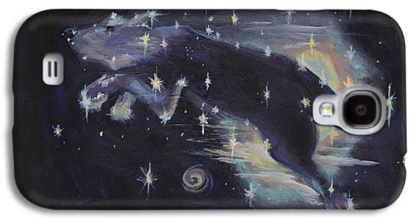 Constellations Paintings Galaxy S4 Cases - Leaping dog constellation Galaxy S4 Case by Robin Wiesneth