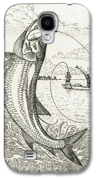 Slam Galaxy S4 Cases - Leaping Tarpon Galaxy S4 Case by Charles Harden