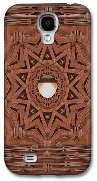 Nature Abstract Galaxy S4 Cases - Leather In Peace And Love Galaxy S4 Case by Pepita Selles