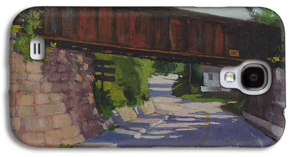 Maine Roads Paintings Galaxy S4 Cases - Leaving Hallowell Galaxy S4 Case by Bill Tomsa