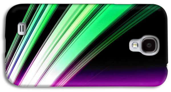 Cosmology Paintings Galaxy S4 Cases - Leaving Saturn in Pink and Mint Galaxy S4 Case by Pet Serrano