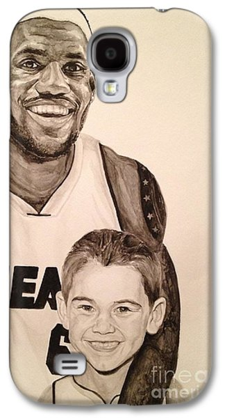 Lebron Paintings Galaxy S4 Cases - Lebron and Carter Galaxy S4 Case by Tamir Barkan