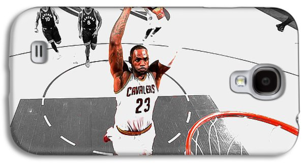 Lebron James Flight Path Galaxy S4 Case by Brian Reaves