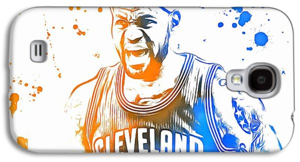 Espn Galaxy S4 Cases - LeBron James Paint Splatter Galaxy S4 Case by Dan Sproul