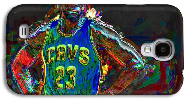 King James Galaxy S4 Cases - LeBron James Painted Galaxy S4 Case by David Haskett