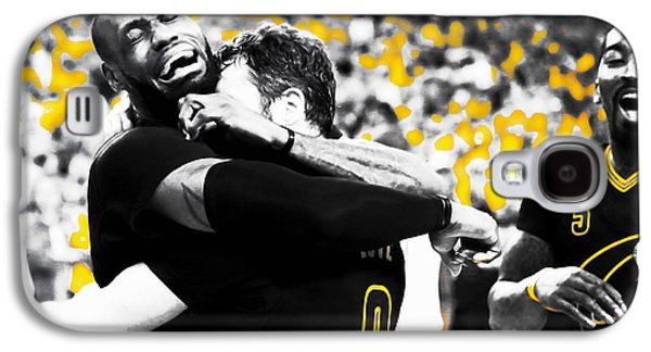 Lebron James Putting In Work Galaxy S4 Case by Brian Reaves