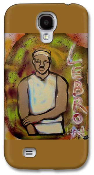 Lebron Paintings Galaxy S4 Cases - Lebron James Street Art Galaxy S4 Case by Tony B Conscious