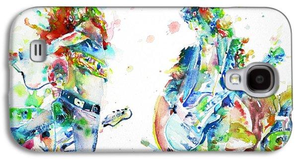 Led Zeppelin Live Concert - Watercolor Portrait.1 Galaxy S4 Case by Fabrizio Cassetta