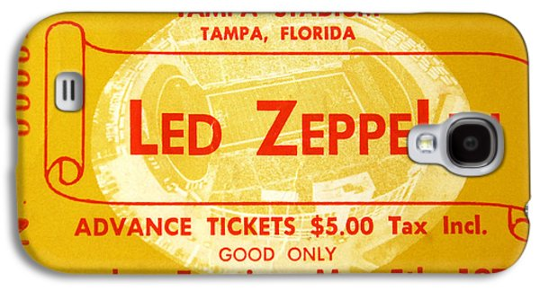 Led Zeppelin Ticket Galaxy S4 Case by David Lee Thompson