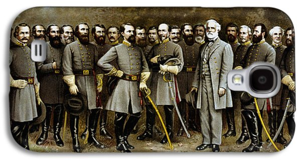 Warishellstore Paintings Galaxy S4 Cases - Robert E. Lee and His Generals Galaxy S4 Case by War Is Hell Store