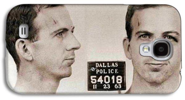 Jail Paintings Galaxy S4 Cases - Lee Harvey Oswald Mug Shot 1931 Horizontal  Galaxy S4 Case by Tony Rubino