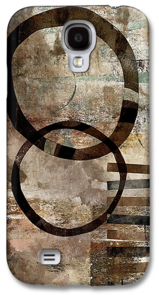 Rectangles Digital Galaxy S4 Cases - Left of Eight  Galaxy S4 Case by Carol Leigh