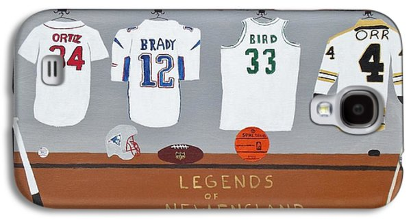 Larry Bird Galaxy S4 Cases - Legends of New England Galaxy S4 Case by Dennis ONeil