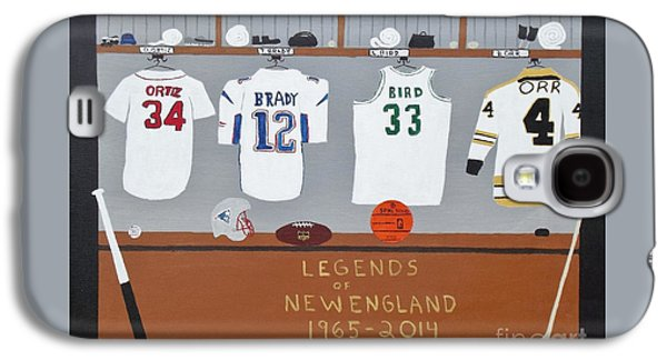 Larry Bird Paintings Galaxy S4 Cases - Legends of New England Galaxy S4 Case by Dennis ONeil