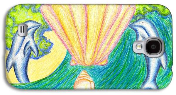Peaches Drawings Galaxy S4 Cases - Lemuria Atlantis Galaxy S4 Case by Kim Sy Ok