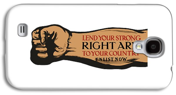 Vet Galaxy S4 Cases - Lend Your Strong Right Arm To Your Country Galaxy S4 Case by War Is Hell Store