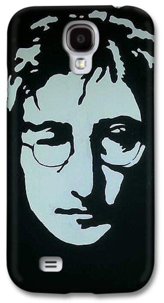 Beatles Galaxy S4 Cases - Lennon Galaxy S4 Case by Cynthia  Carpenter