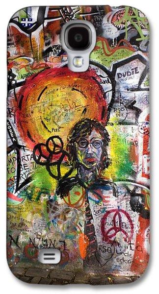 Beatles Photographs Galaxy S4 Cases - Lennon Wall, Prague Galaxy S4 Case by Mark Williamson