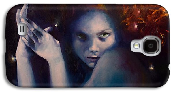 Constellations Paintings Galaxy S4 Cases - Leo from Zodiac Signs Galaxy S4 Case by Dorina  Costras