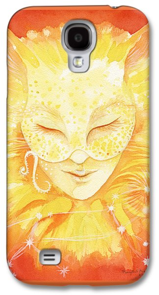 Constellations Paintings Galaxy S4 Cases - Leo the Lion Galaxy S4 Case by Phyllis Mahon