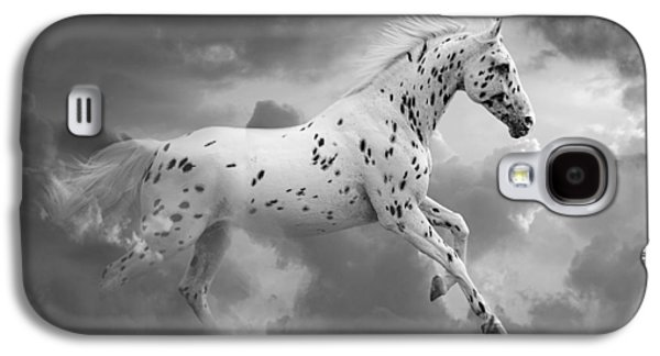 Horse Digital Galaxy S4 Cases - Leopard Appaloosa Cloud Runner Galaxy S4 Case by Renee Forth-Fukumoto