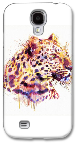 Leopard Head Galaxy S4 Case by Marian Voicu