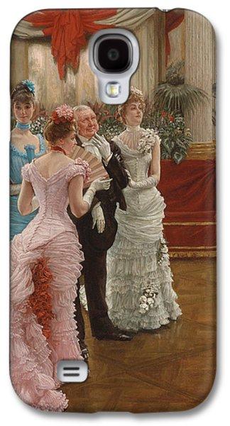 Dance Floor Paintings Galaxy S4 Cases - Les Demoiselles de Province Galaxy S4 Case by James Jacques Joseph Tissot